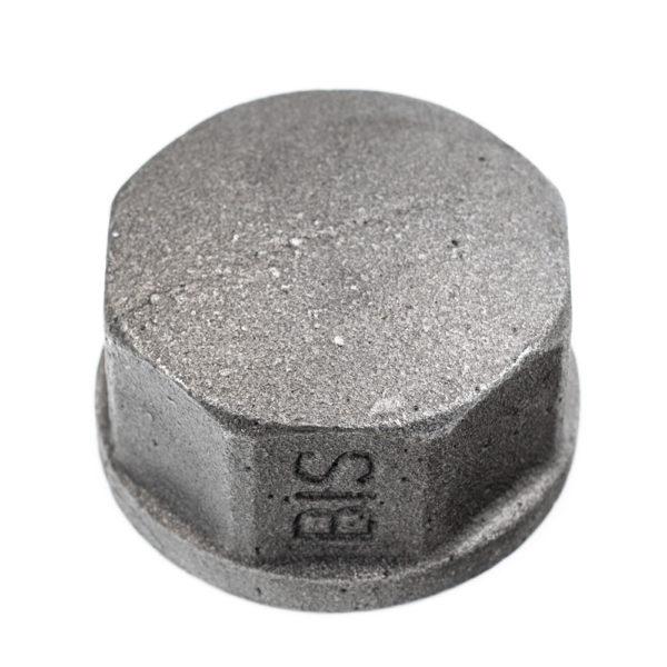 bouchon en acier noir femelle 33mm x 42mm