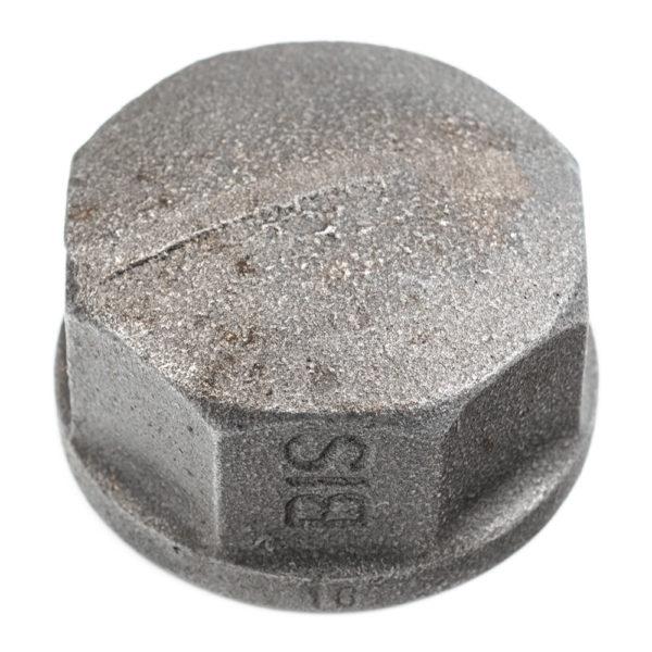 bouchon en acier noir femelle 40mm x 49mm