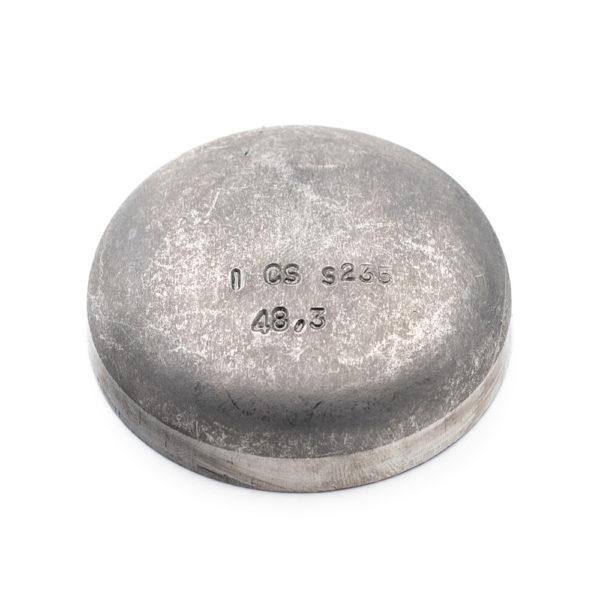 fond bombé à souder acier galva 48,3mm x 2,6mm