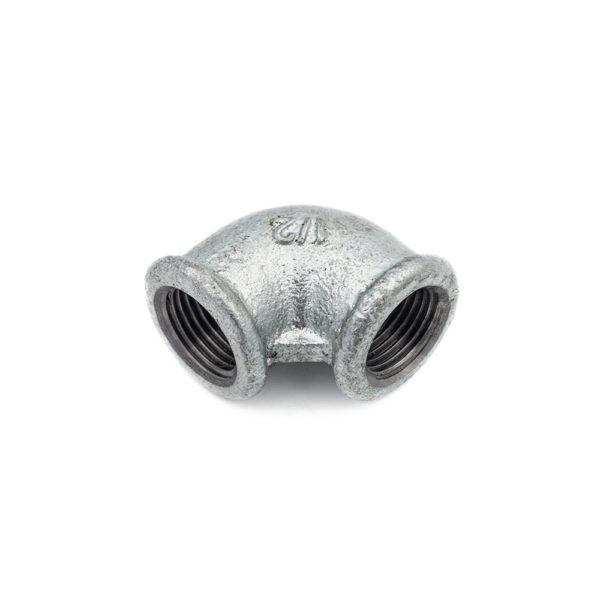 Coude 90° Femelle Femelle acier galva 15mm x 21mm