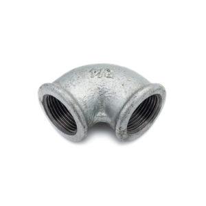 Coude 90° Femelle Femelle acier galva 20mm x 27mm