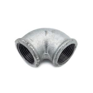 Coude 90° Femelle Femelle acier galva 26mm x 34mm