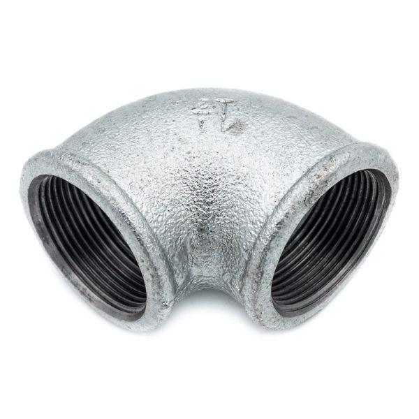 Coude 90° Femelle Femelle acier galva 40mm x 49mm