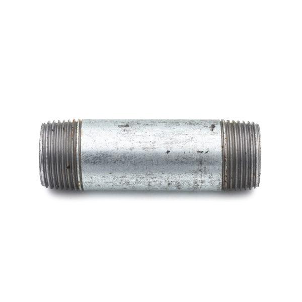 Mamelon 100mm filetage conique acier galva 26mm x 34mm
