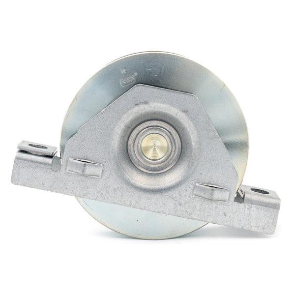 Monture en acier galvanisé – Galet Ø 100mm – Rail Ø 16mm